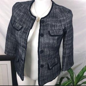 Talbots | Sz 8 Navy Tweed Women Waist jacket